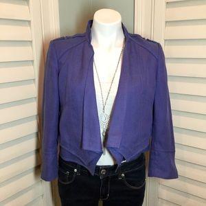 WHBM Periwinkle Cropped Jacket, 6